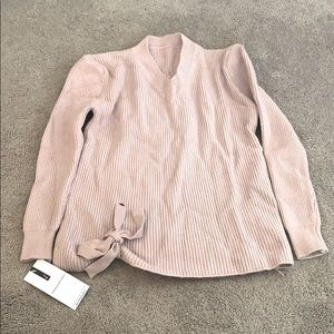 Goodnight Macaroon Marie Side Tie V Neck Sweater